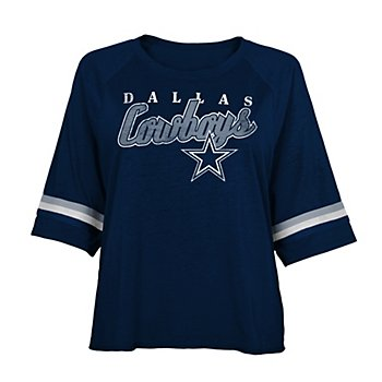 Dallas Cowboys Juniors Jen Burnout Tee
