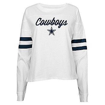Dallas Cowboys Juniors Carli Football Cropped Top