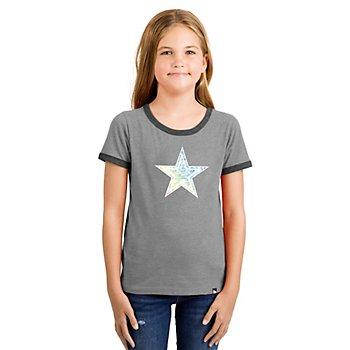 Dallas Cowboys New Era Girls Ringer Short Sleeve Tee