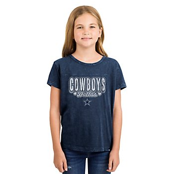 Dallas Cowboys New Era Girls Washed Short Sleeve Tee