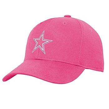 Dallas Cowboys Girls Pink Logo Adjustable Hat