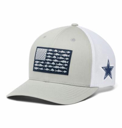 Dallas Cowboys Columbia Unisex PFG Mesh Fish Flag Flex Fit Hat