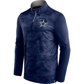 Dallas Cowboys Mens Camo 1/4 Zip Pullover