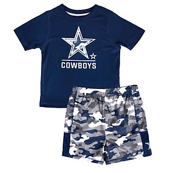Dallas Cowboys Toddler Major Short and Tee Set