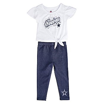 Dallas Cowboys Toddler Heart in the Game Legging Set
