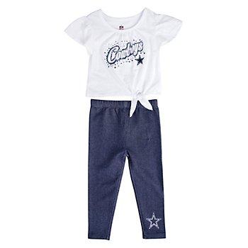 Dallas Cowboys Toddler Heart in the Game Legging Set