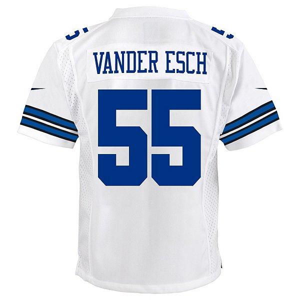 Dallas Cowboys Youth Leighton Vander Esch #55 Nike White Game Replica Jersey