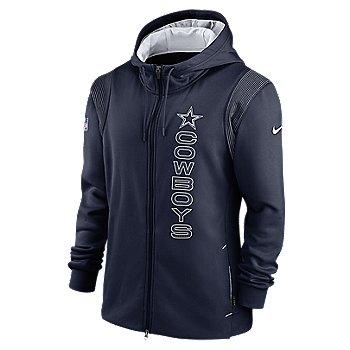Dallas Cowboys Nike Mens Sideline Full Zip Therma Hoodie