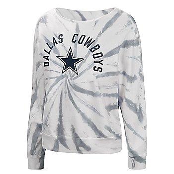 Dallas Cowboys Womens Equalizer Tie Dye Crew Fleece Sweatshirt
