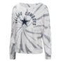 Dallas Cowboys Womens Equalizer Tie Dye Crew Fleece Sweatshirt
