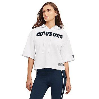 Dallas Cowboys DKNY Sport Womens Lana Short Sleeve Hoodie