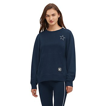 Dallas Cowboys DKNY Sport Womens Camila Crew Fleece