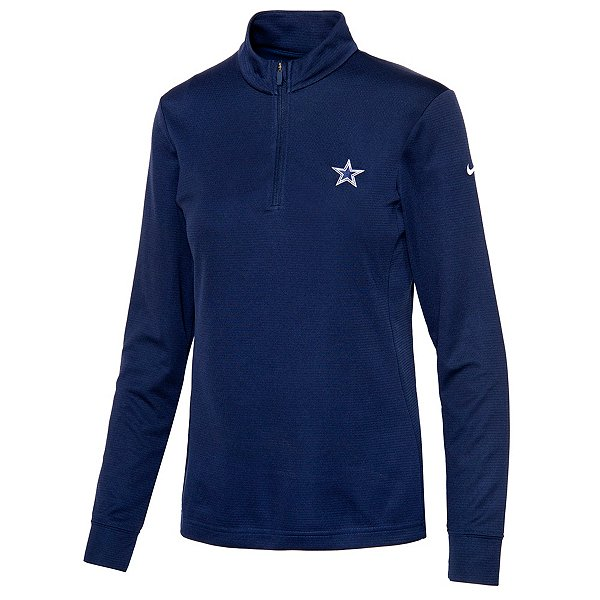 Dallas Cowboys Nike Womens Quarter Zip Pullover Fleece