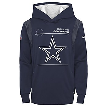 Dallas Cowboys Nike Youth Sideline Therma Pullover Hoodie