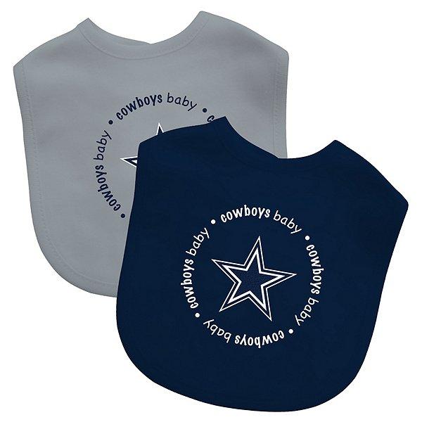 Dallas Cowboys 2-Pack Navy and Gray Bibs
