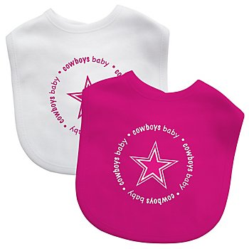 Dallas Cowboys 2-Pack Pink and White Bibs