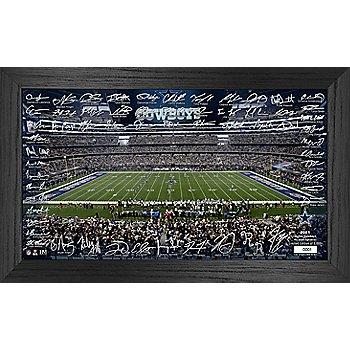 "Dallas Cowboys Limited Edition Signature Grid  12"" x 20"" Frame"