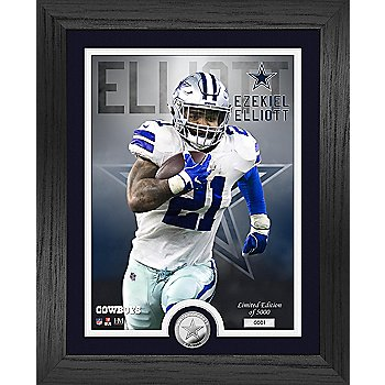 "Dallas Cowboys Ezekiel Elliott 13"" x 16"" Limited Edition Photo Mint Frame"