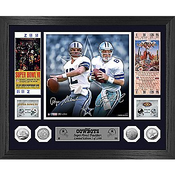 Dallas Cowboys Staubach& AikmanSuper Bowl Mint Photo Frame