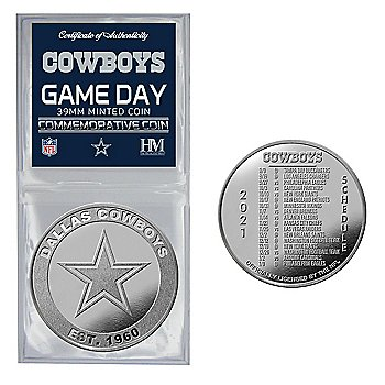 Dallas Cowboys 2021 Game DaySchedule Commemorative Coin