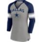 Dallas Cowboys Womens Stripe 3/4 Sleeve Tee