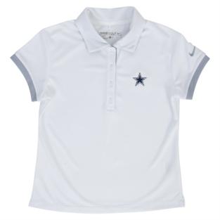 Dallas Cowboys Nike Golf Girls Victory Polo