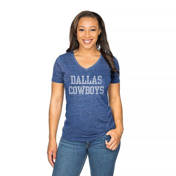 Dallas Cowboys Womens Distressed Coaches Tee