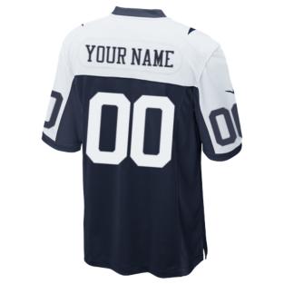 Dallas Cowboys Custom Nike Game Replica Throwback Jersey