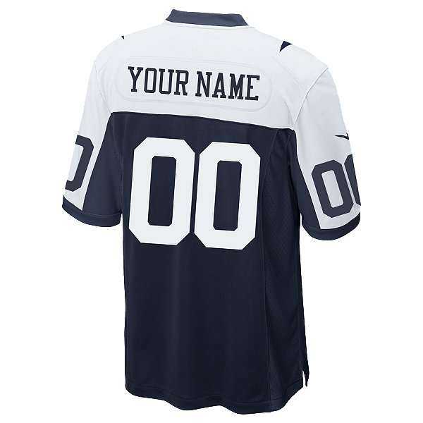 Dallas Cowboys Custom Nike Game Replica Throwback Jersey