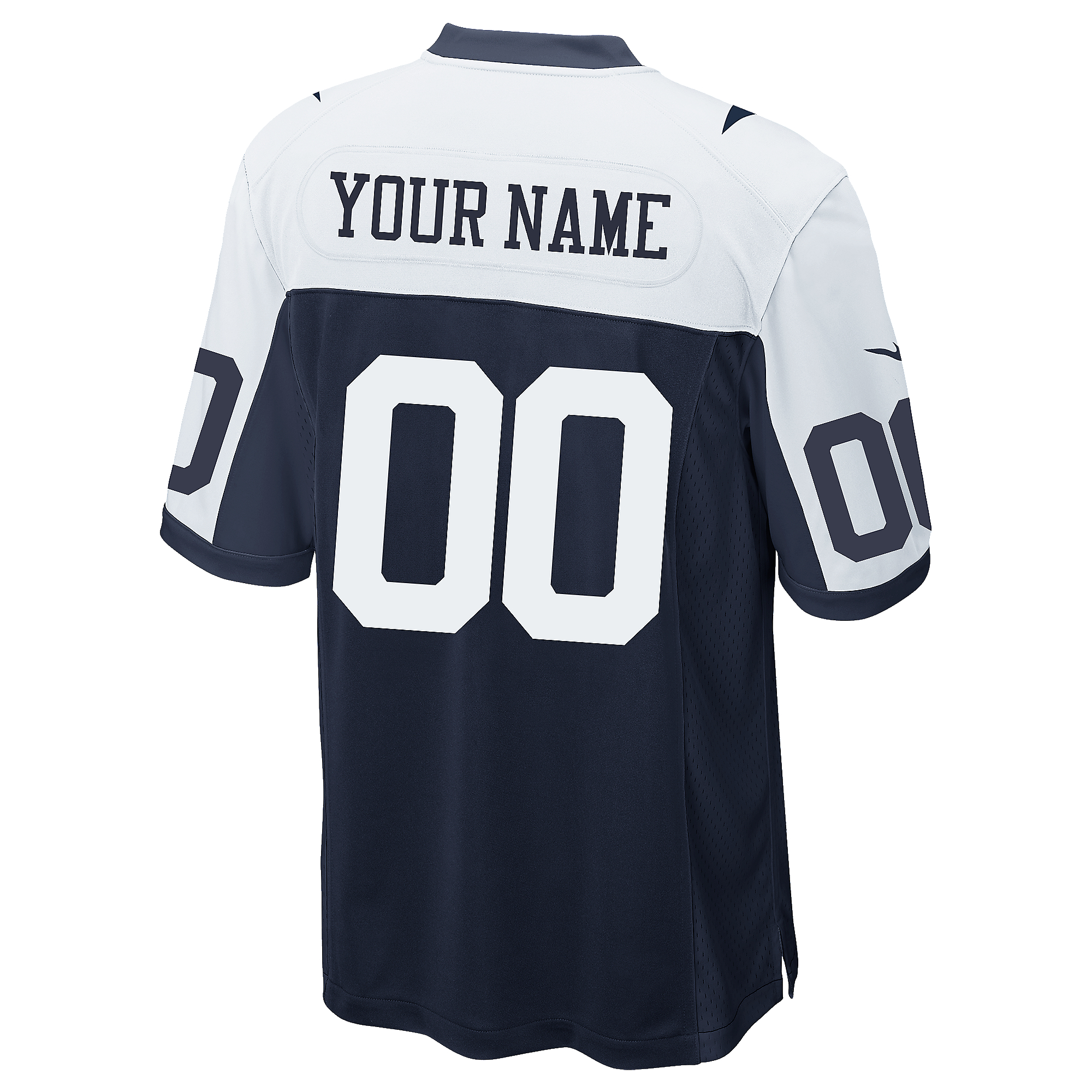 Dallas Cowboys Custom Nike Game Replica Throwback Jersey 3XL-4XL