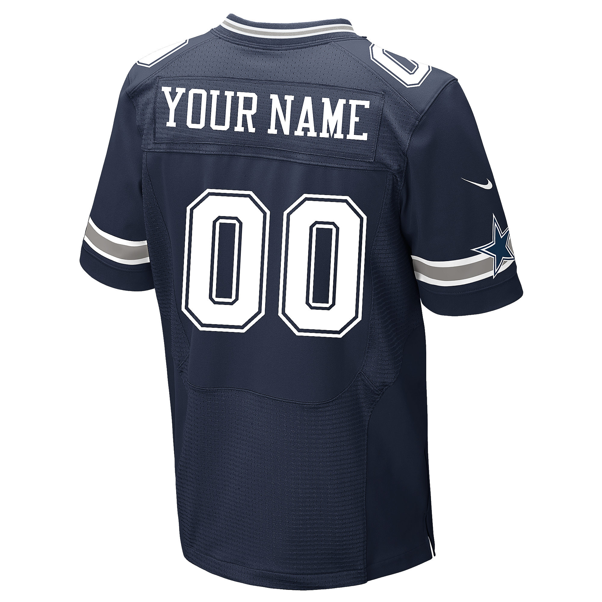 Dallas Cowboys Custom Nike Navy Elite Authentic Jersey