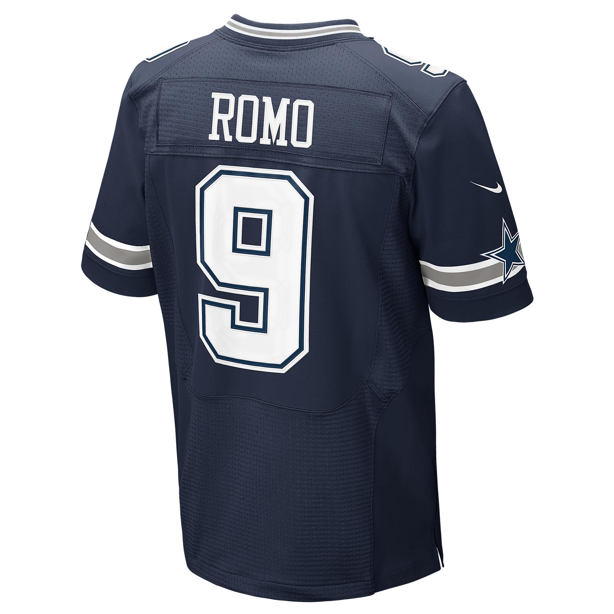 df9e0119dc1 Dallas Cowboys Tony Romo #9 Nike Elite Authentic Jersey | Dallas Cowboys  Pro Shop