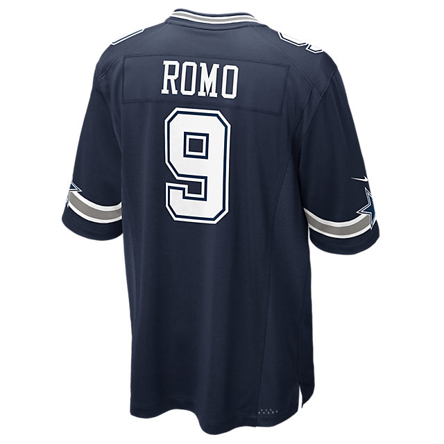 Dallas Cowboys Tony Romo #9 Nike Navy Game Replica Jersey