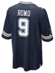 Dallas Cowboys Tony Romo #9 Nike Navy Game Replica Jersey