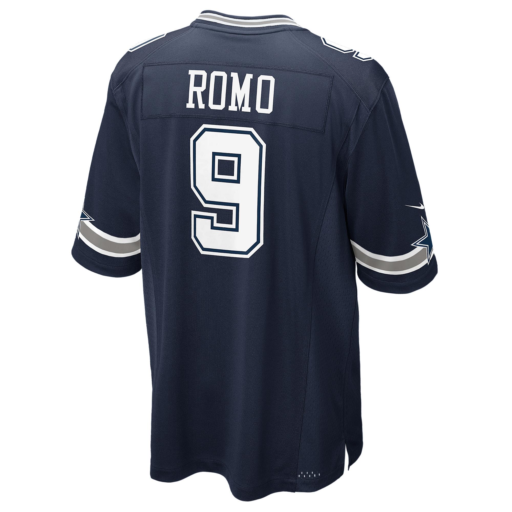Dallas Cowboys Tony Romo  9 Nike Navy Game Replica Jersey  fce7f3a0f