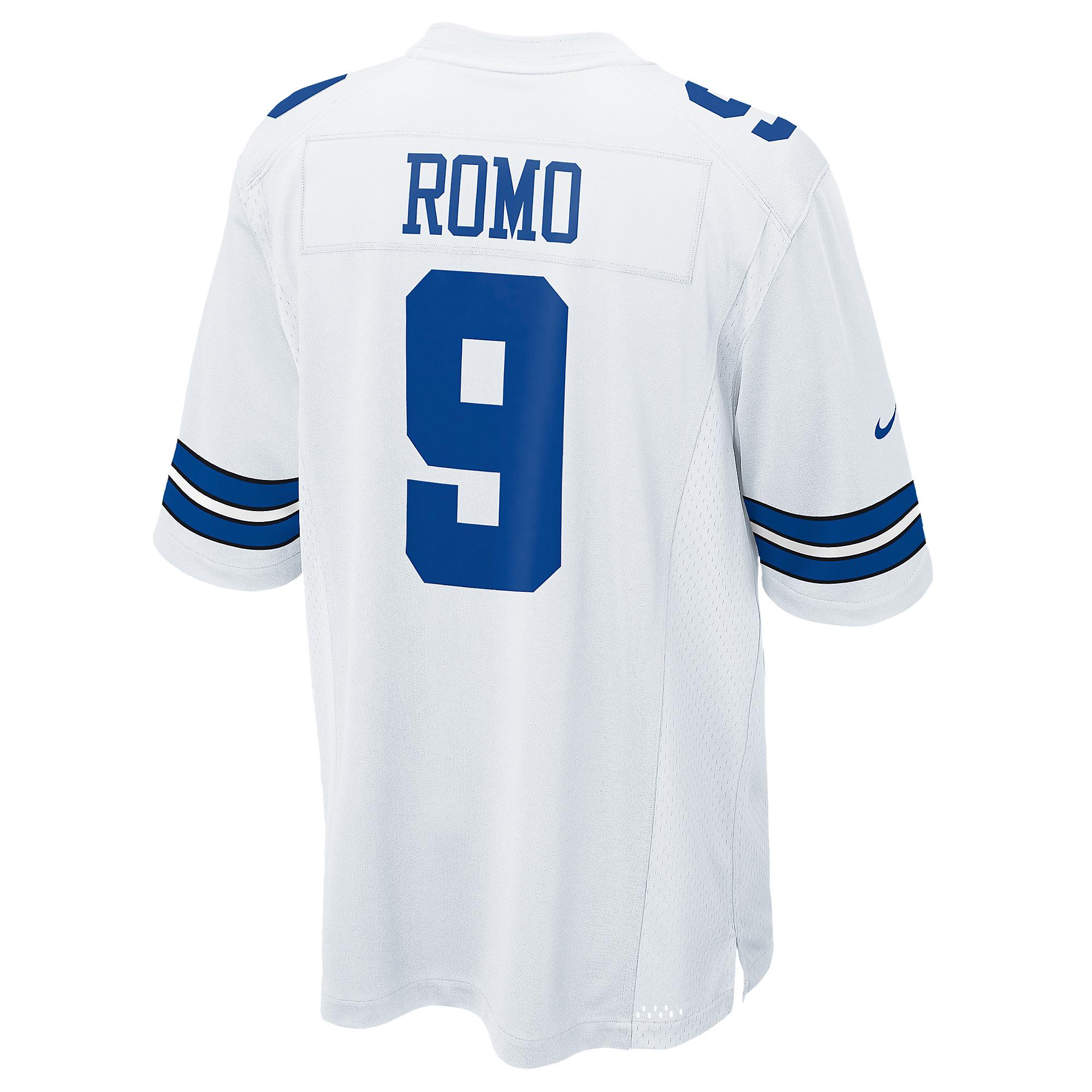 Dallas Cowboys Tony Romo #9 Nike White Game Replica Jersey