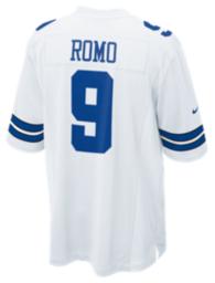 Dallas Cowboys Tony Romo #9 Nike White Game Replica Jersey 3XL-4XL