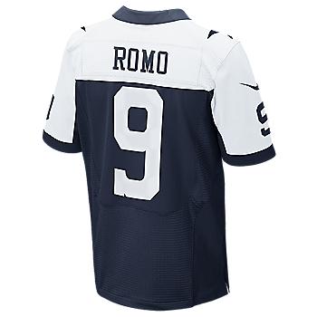 Dallas Cowboys Romo Nike Elite Authentic Throwback Jersey