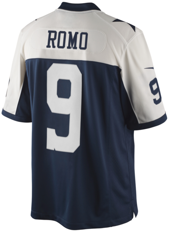 Dallas Cowboys Tony Romo #9 Nike Limited Throwback Jersey