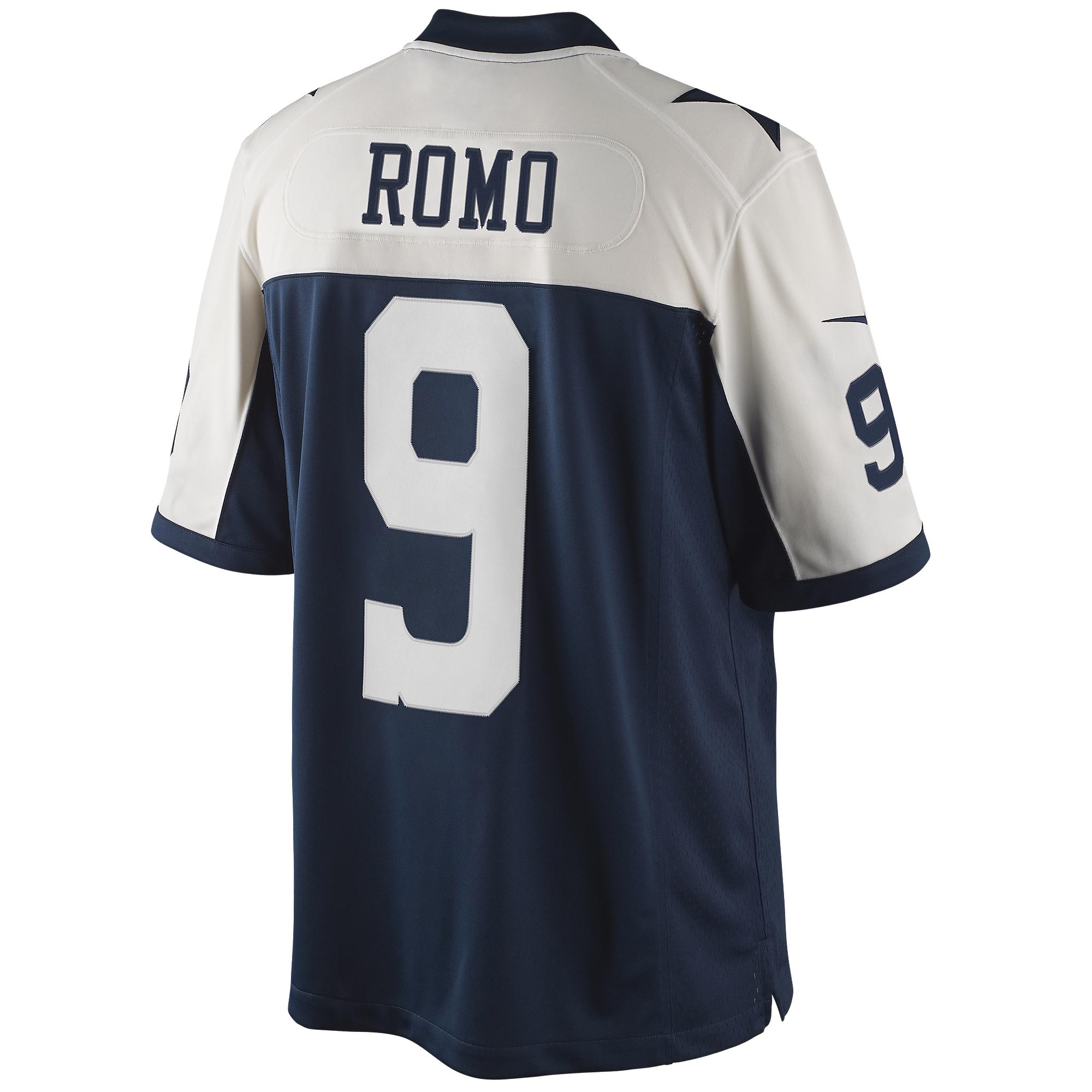 452fc9368b4d Dallas Cowboys Romo Nike Limited Throwback Jersey 3XL-4XL