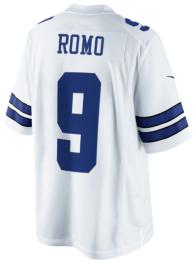 Dallas Cowboys Tony Romo #9 Nike White Limited Jersey