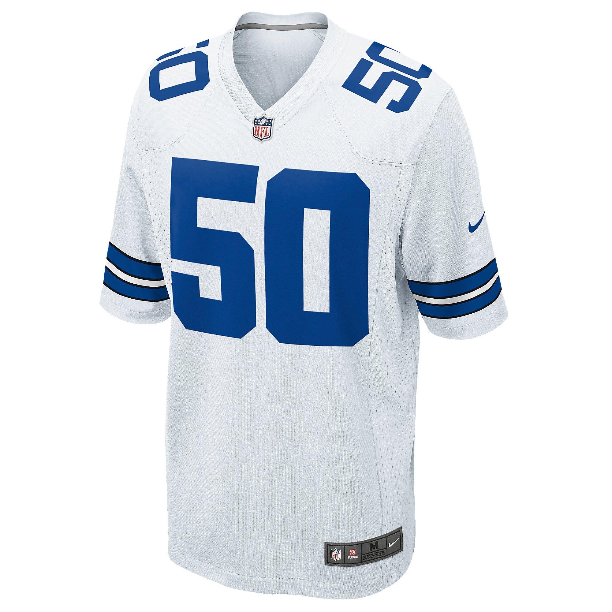 Dallas Cowboys Sean Lee #50 Nike White Game Replica Jersey 3XL-4XL ...