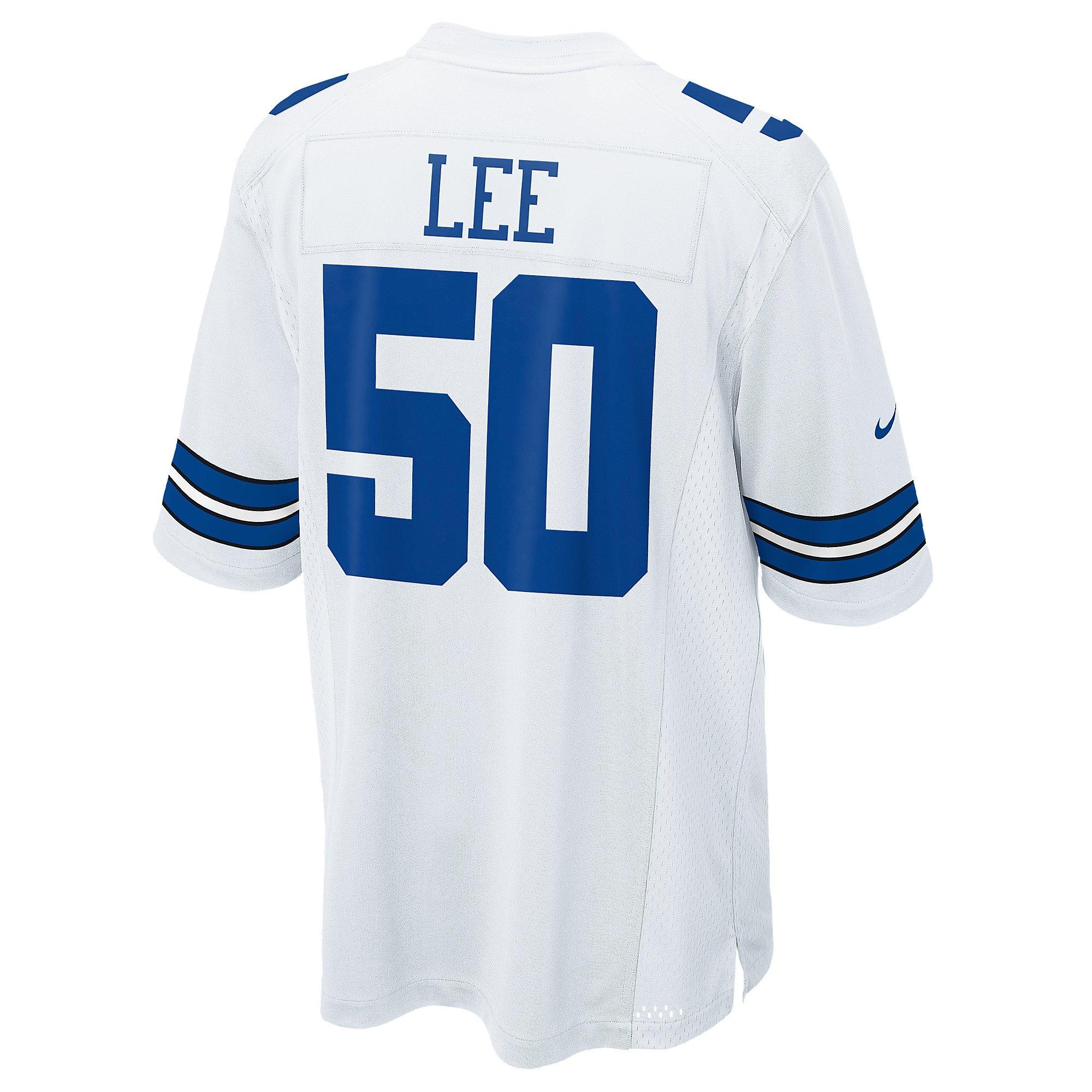 Dallas Cowboys Sean Lee #50 Nike White Game Replica Jersey 3XL-4XL