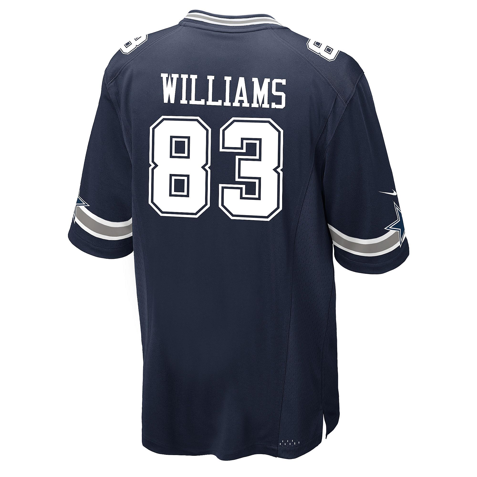 Dallas Cowboys Terrance Williams #83 Nike Navy Game Replica Jersey