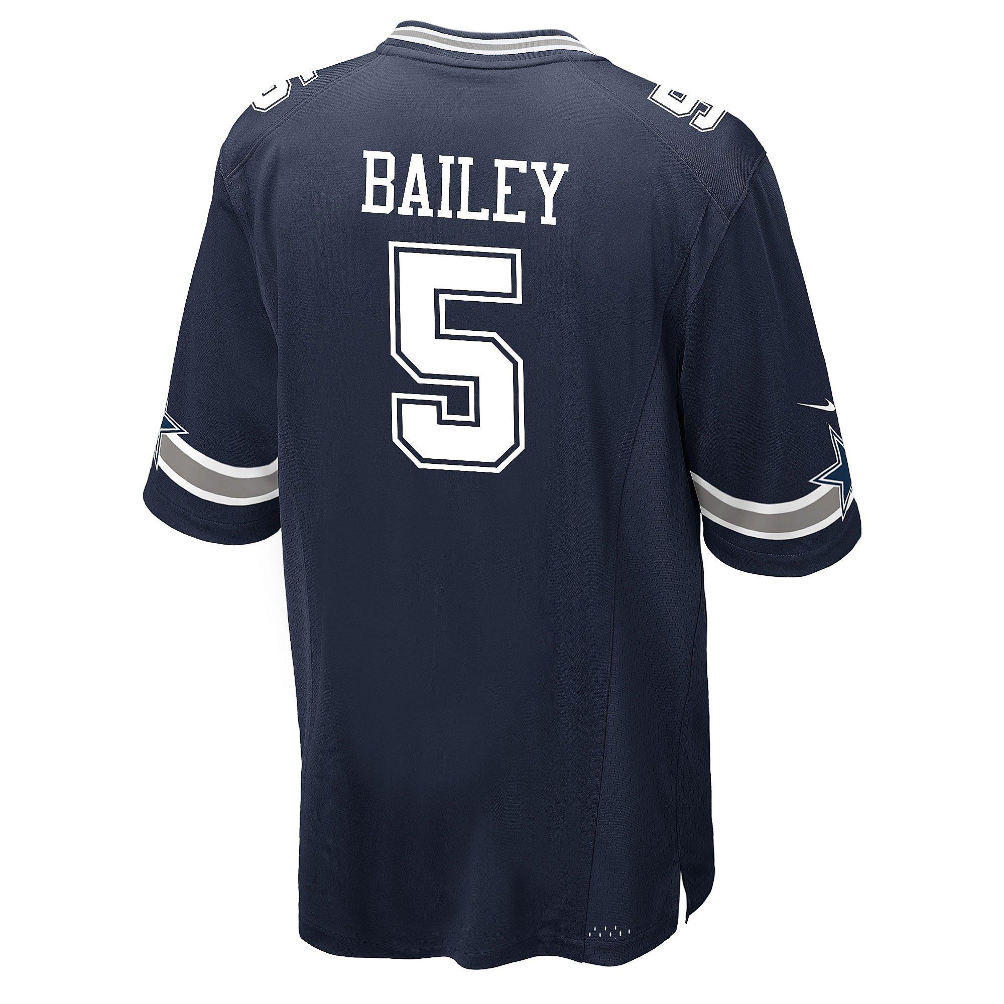 Dallas Cowboys Dan Bailey #5 Nike Navy Game Replica Jersey
