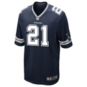 Dallas Cowboys Ezekiel Elliott #21 Nike Navy Game Replica Jersey