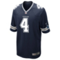 Dallas Cowboys Dak Prescott #4 Nike Navy Game Replica Jersey
