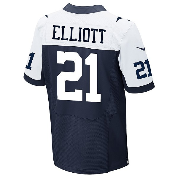 Dallas Cowboys Ezekiel Elliott #21 Nike Game Replica Throwback Jersey