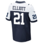 Dallas Cowboys Ezekiel Elliott Nike Game Replica Throwback Jersey