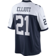 Dallas Cowboys Ezekiel Elliott #21 Nike Throwback Limited Jersey